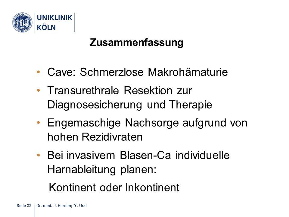 Cave: Schmerzlose Makrohämaturie