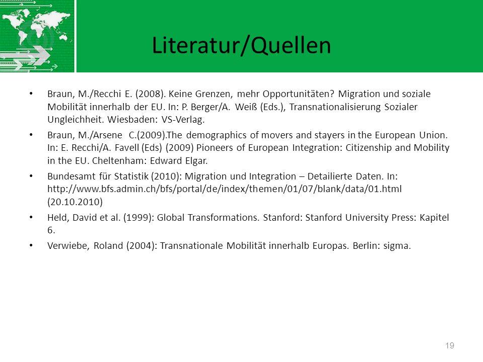 Literatur/Quellen