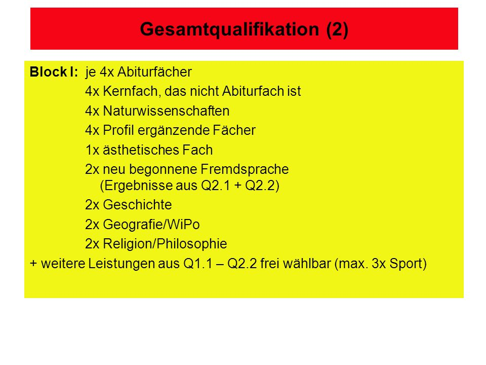 Gesamtqualifikation (2)