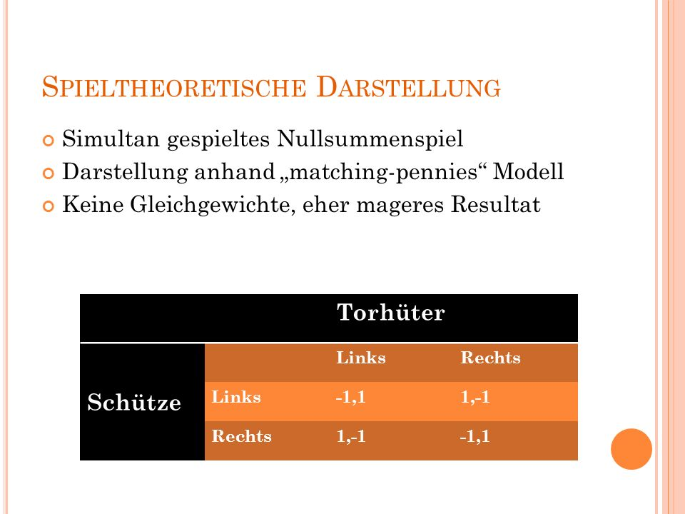 Spieltheoretische Darstellung