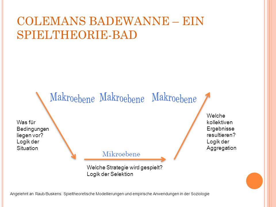 COLEMANS BADEWANNE – EIN SPIELTHEORIE-BAD