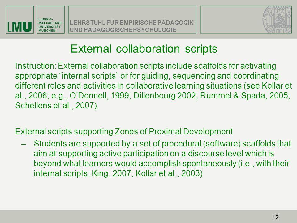 External collaboration scripts