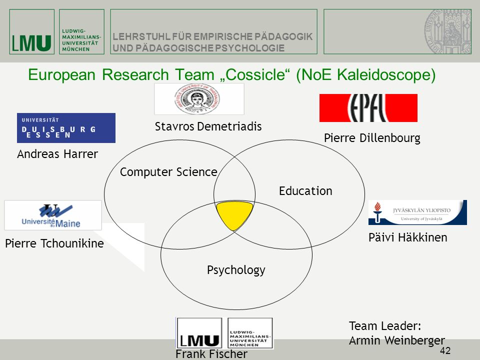 "European Research Team ""Cossicle (NoE Kaleidoscope)"