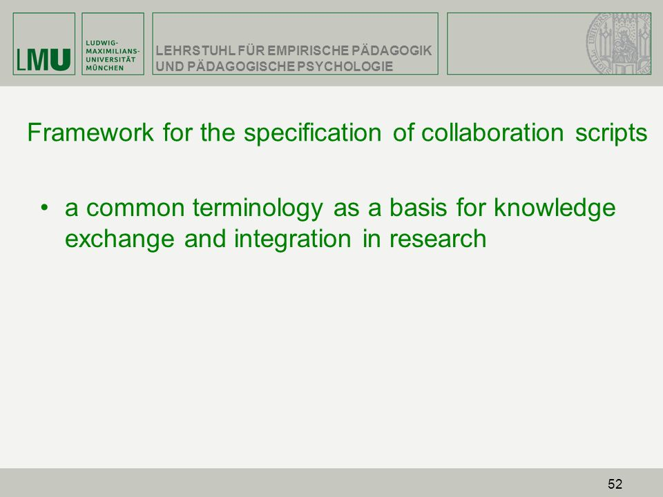 Framework for the specification of collaboration scripts