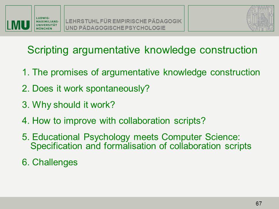 Scripting argumentative knowledge construction