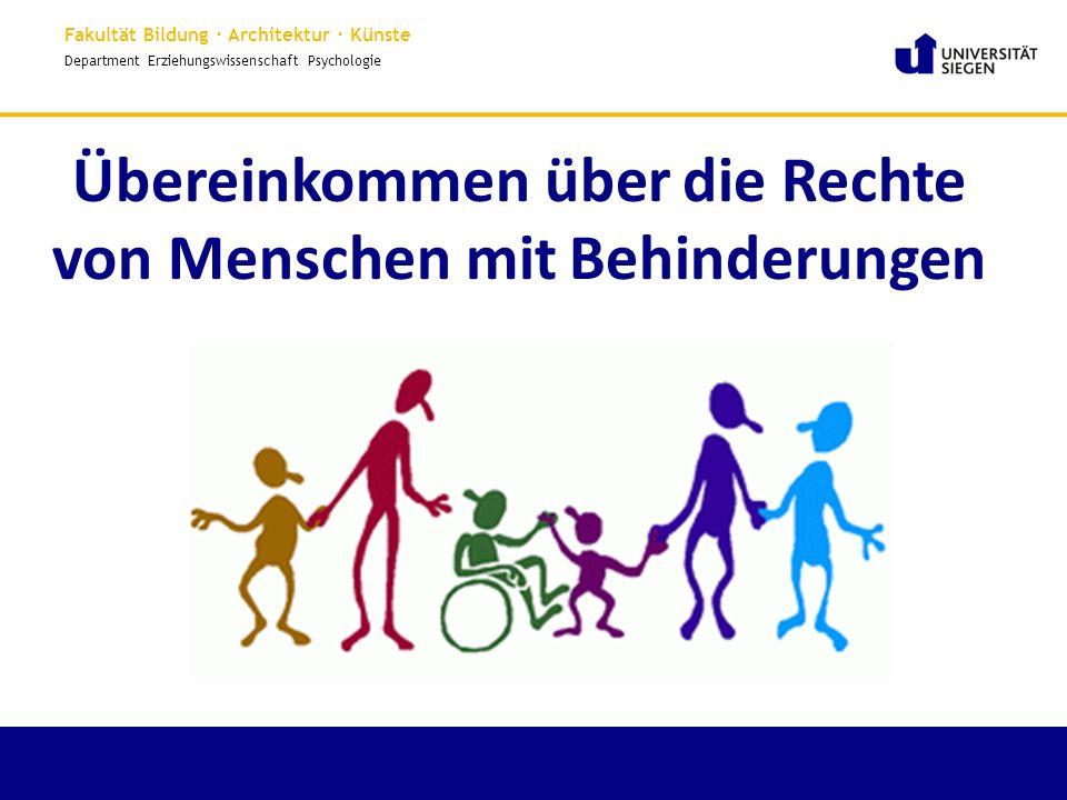 Übereinkommen über die Rechte von Menschen mit Behinderungen