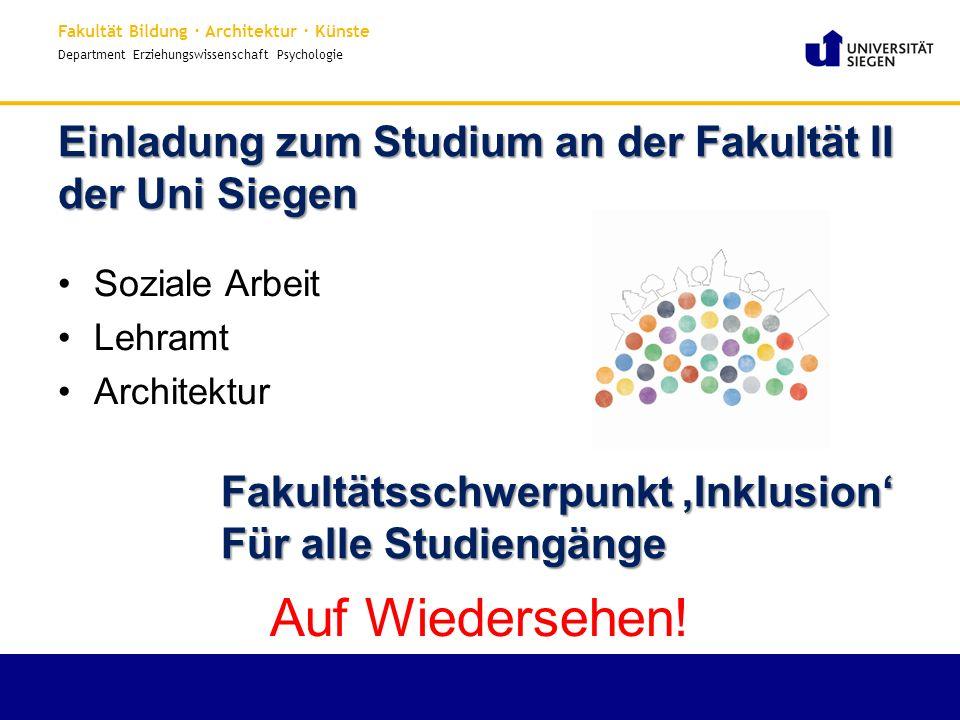 Einladung zum Studium an der Fakultät II der Uni Siegen