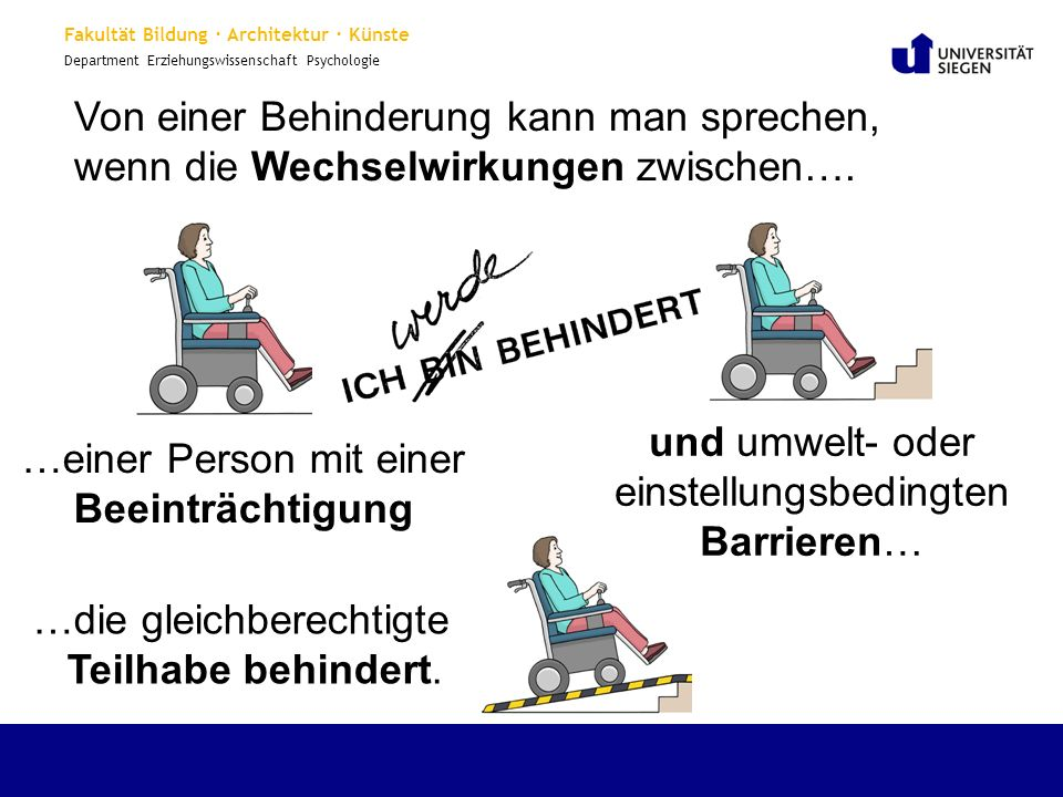 Von einer Behinderung kann man sprechen,