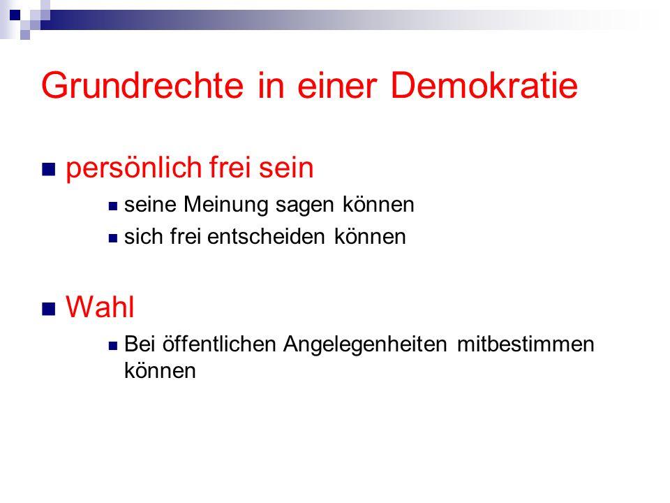 Grundrechte in einer Demokratie