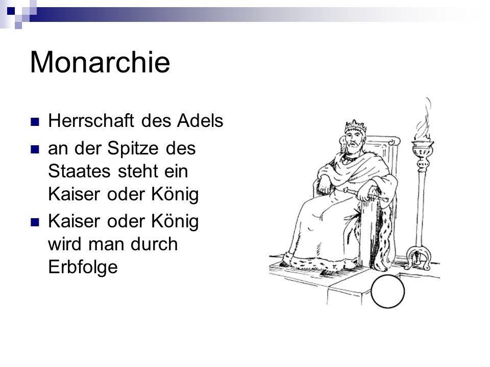 Monarchie Herrschaft des Adels