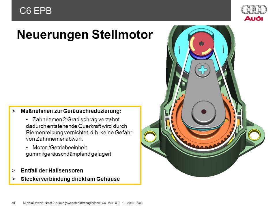 Neuerungen Stellmotor