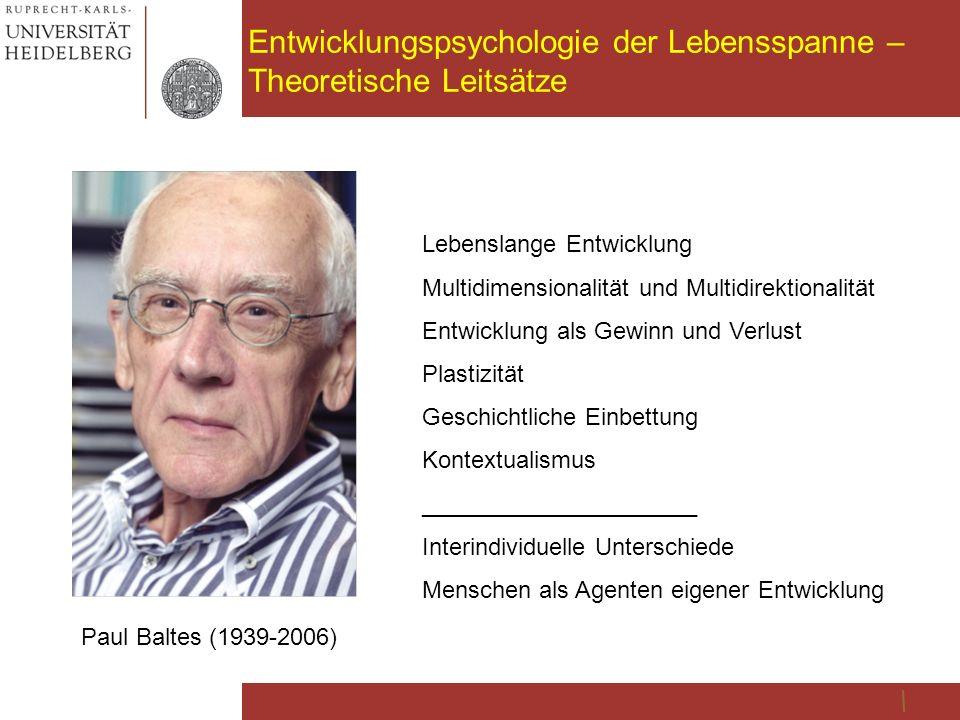 Entwicklungspsychologie der Lebensspanne – Theoretische Leitsätze