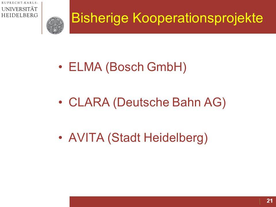 Bisherige Kooperationsprojekte