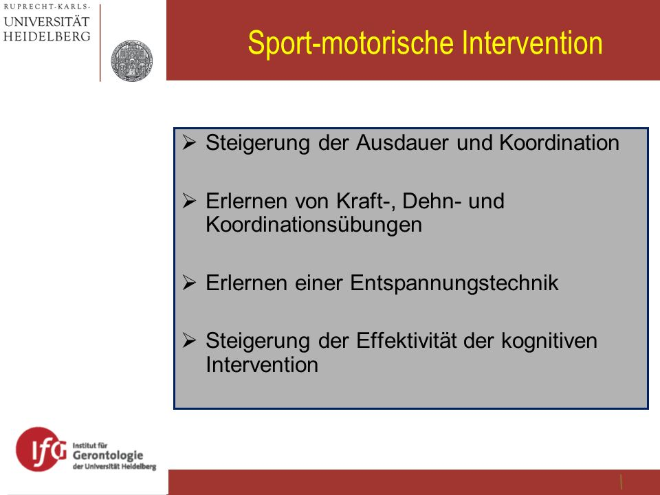 Sport-motorische Intervention