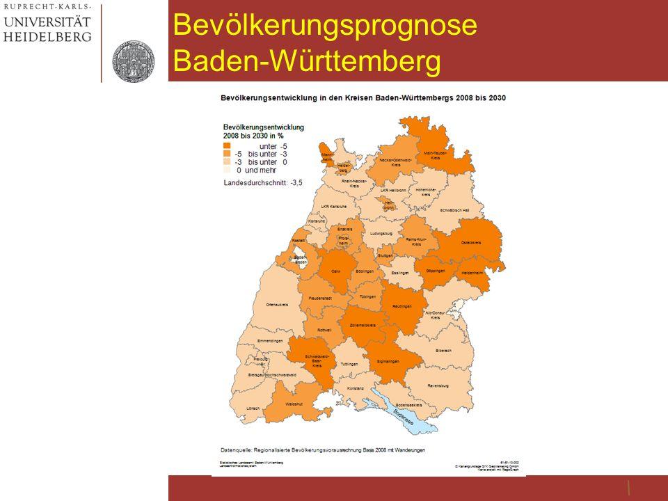 Bevölkerungsprognose Baden-Württemberg