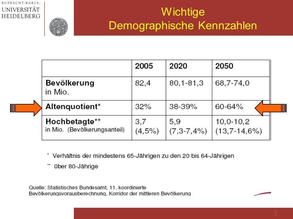 Wichtige Demographische Kennzahlen