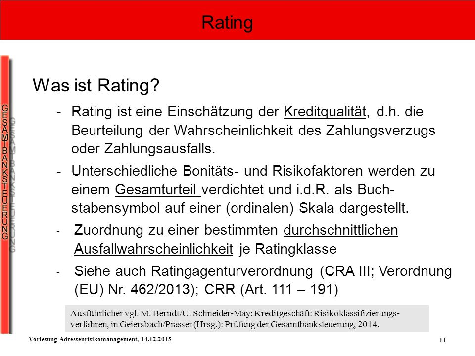 Rating Was ist Rating
