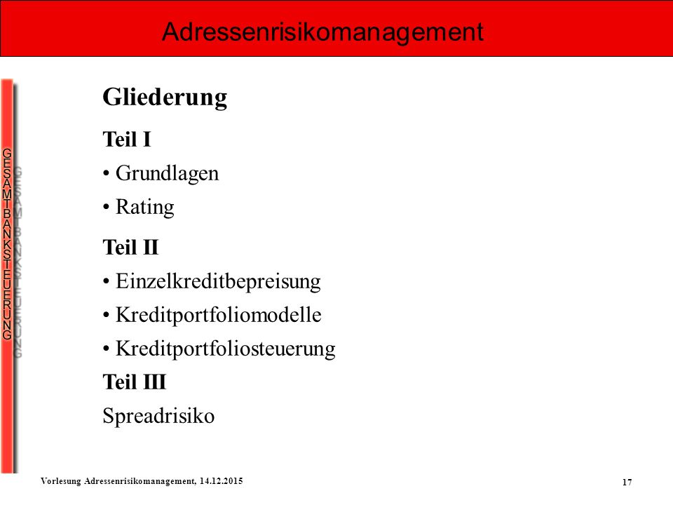 Adressenrisikomanagement