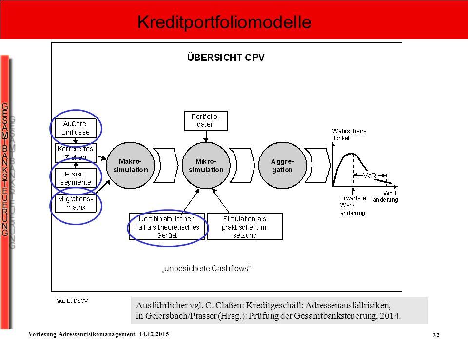 Kreditportfoliomodelle