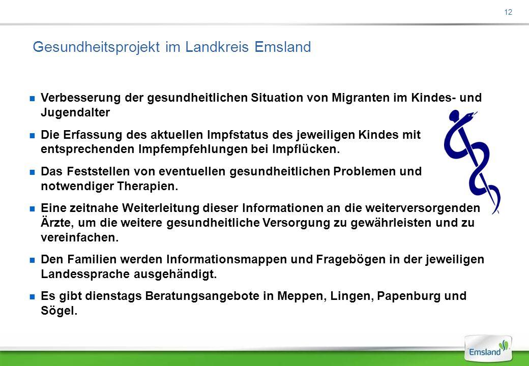 Gesundheitsprojekt im Landkreis Emsland