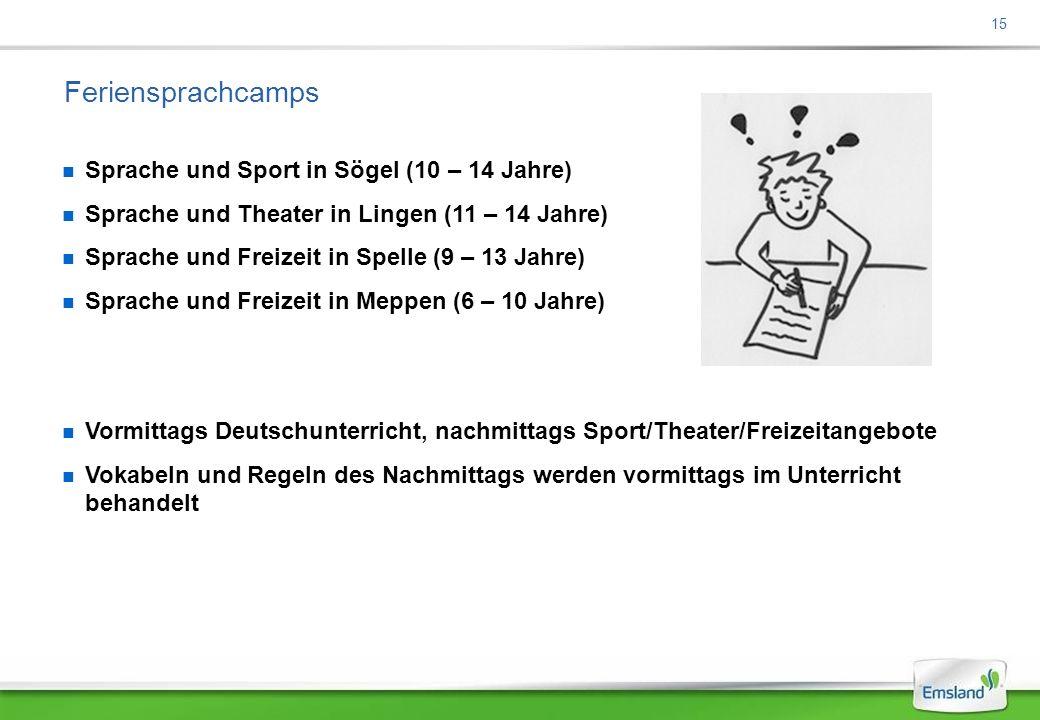 Feriensprachcamps Sprache und Sport in Sögel (10 – 14 Jahre)