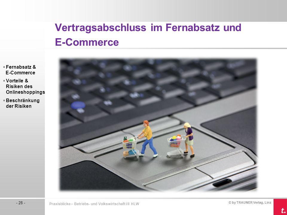 Vertragsabschluss im Fernabsatz und E-Commerce