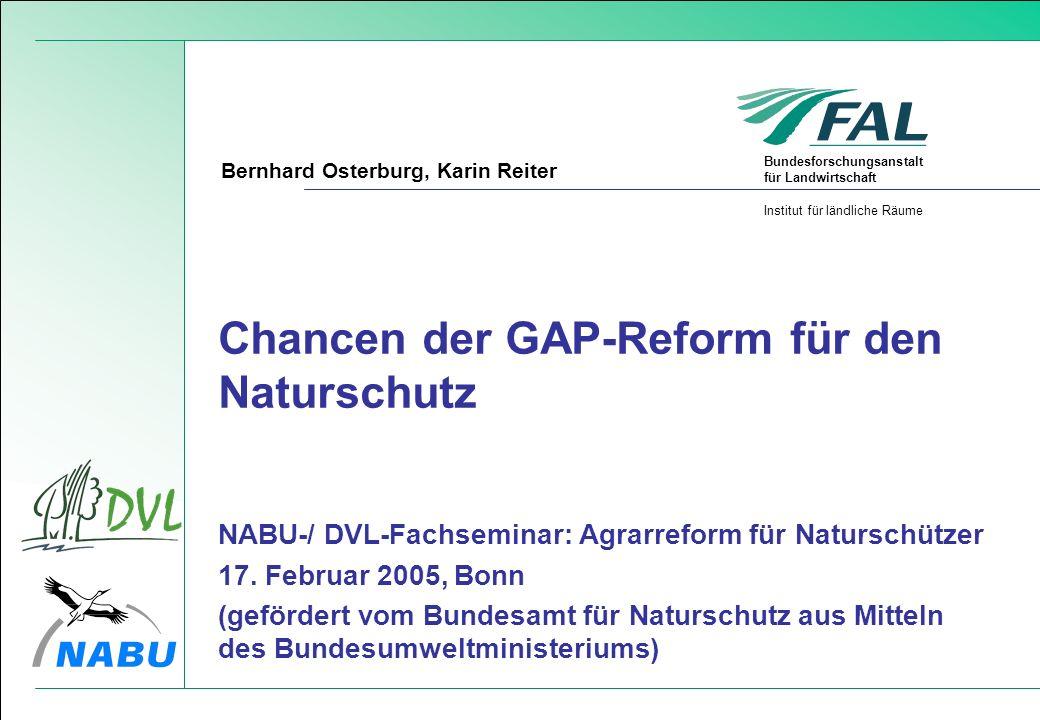 Chancen der GAP-Reform für den Naturschutz