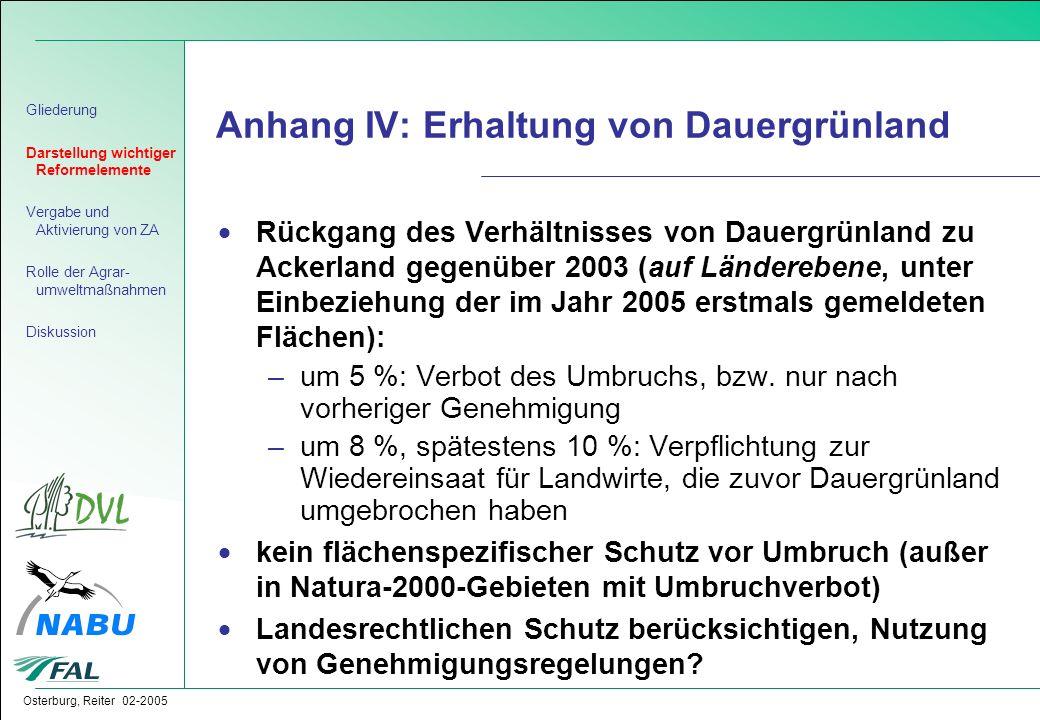 Anhang IV: Erhaltung von Dauergrünland