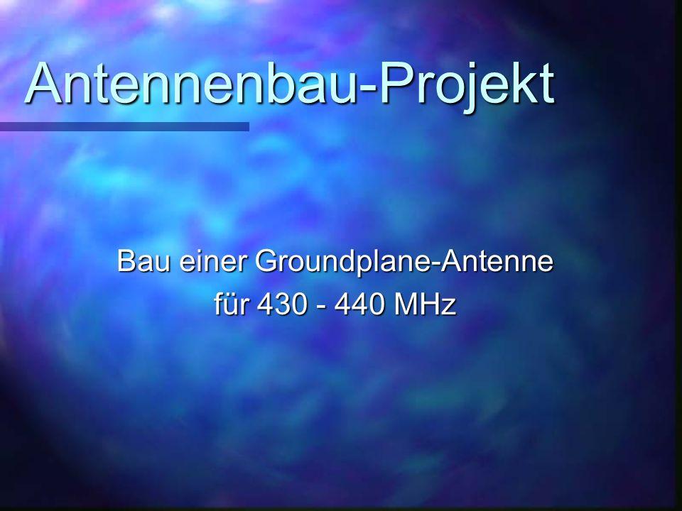 Bau einer Groundplane-Antenne