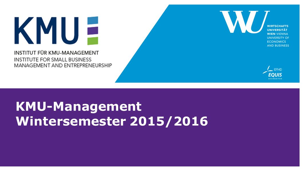 KMU-Management Wintersemester 2015/2016