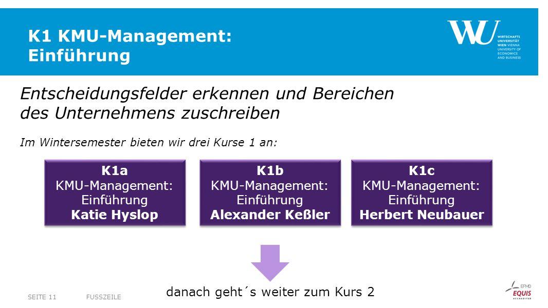 K1 KMU-Management: Einführung