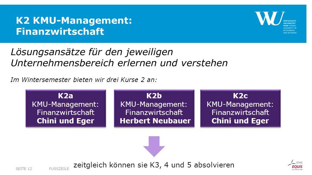 K2 KMU-Management: Finanzwirtschaft