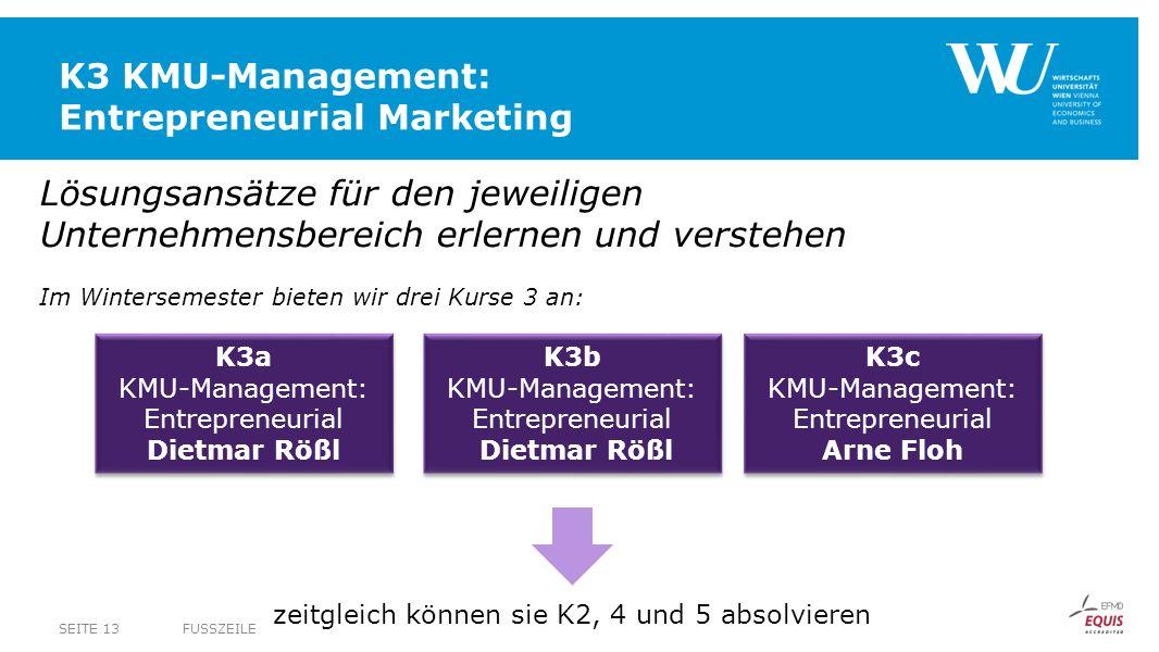 K3 KMU-Management: Entrepreneurial Marketing