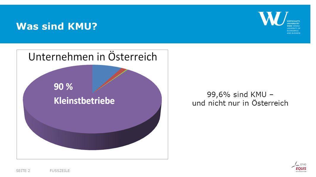99,6% sind KMU – und nicht nur in Österreich