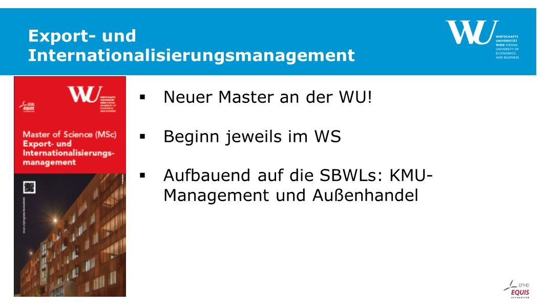 Export- und Internationalisierungsmanagement
