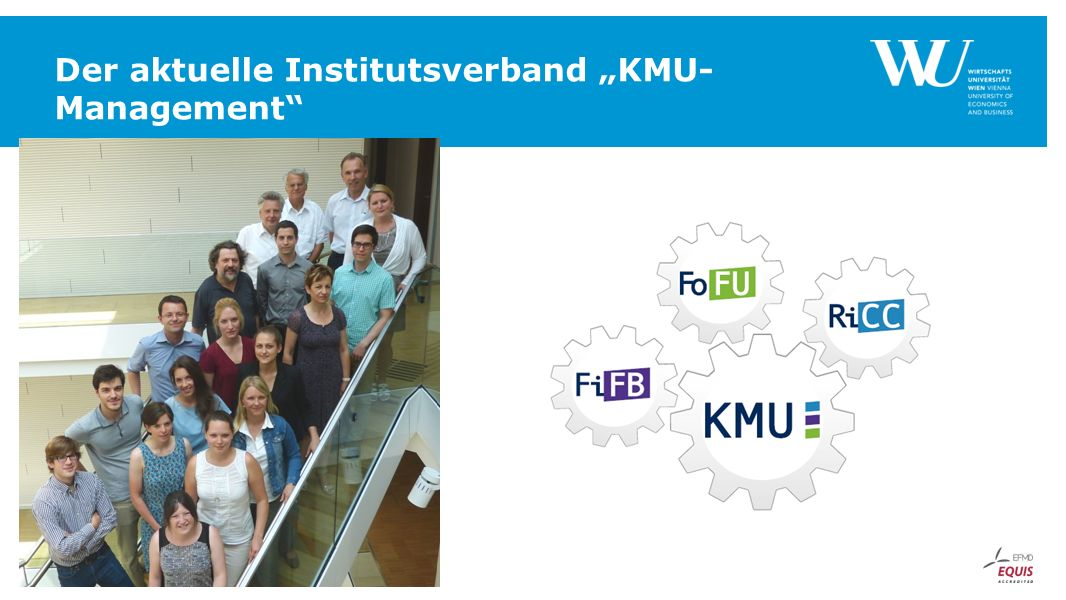 "Der aktuelle Institutsverband ""KMU-Management"