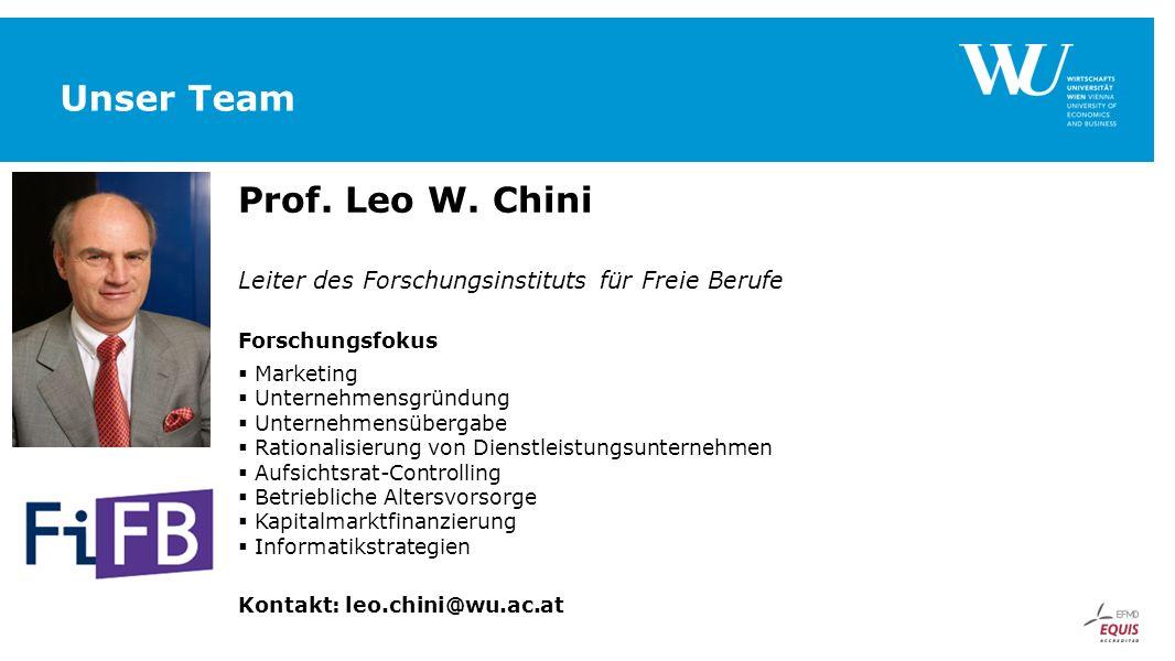 Unser Team Prof. Leo W. Chini