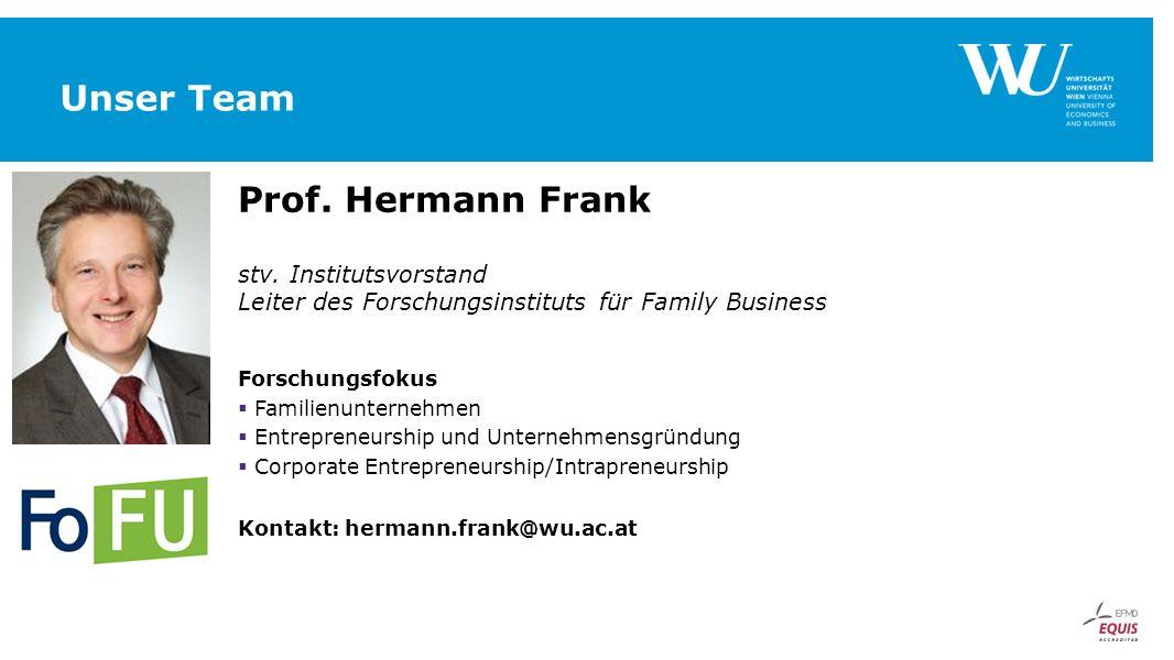 Unser Team Prof. Hermann Frank