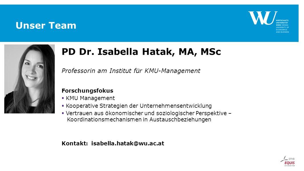 PD Dr. Isabella Hatak, MA, MSc