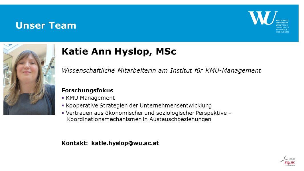 Unser Team Katie Ann Hyslop, MSc