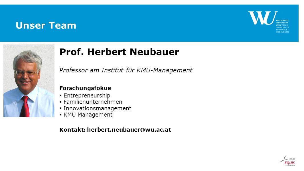 Unser Team Prof. Herbert Neubauer