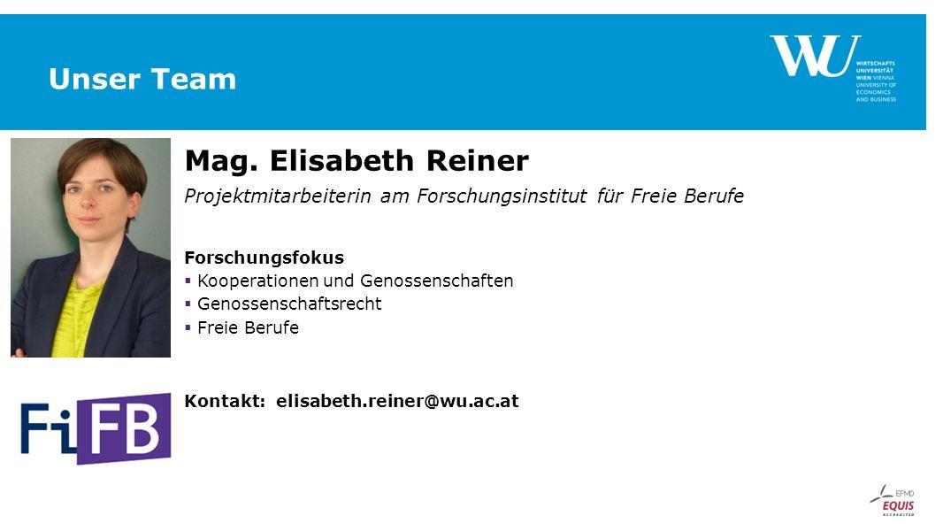 Unser Team Mag. Elisabeth Reiner