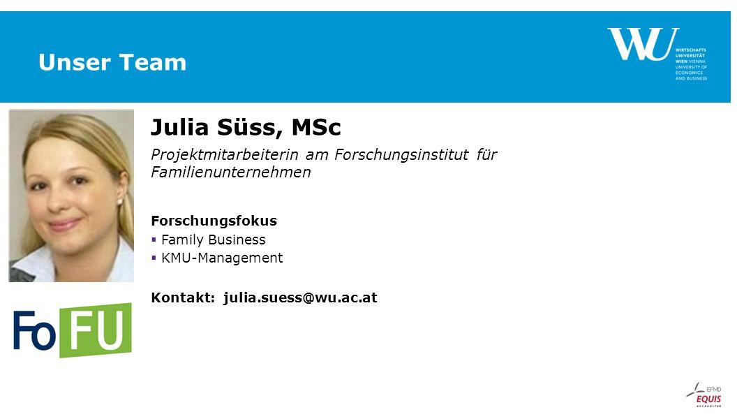 Unser Team Julia Süss, MSc