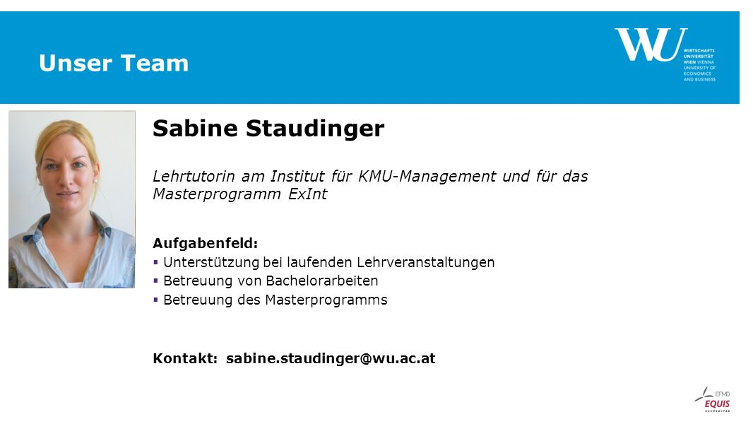 Unser Team Sabine Staudinger