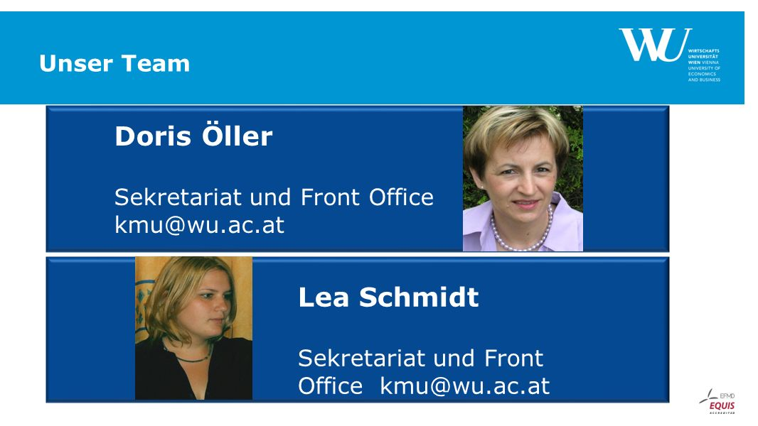 Sekretariat und Front Office kmu@wu.ac.at