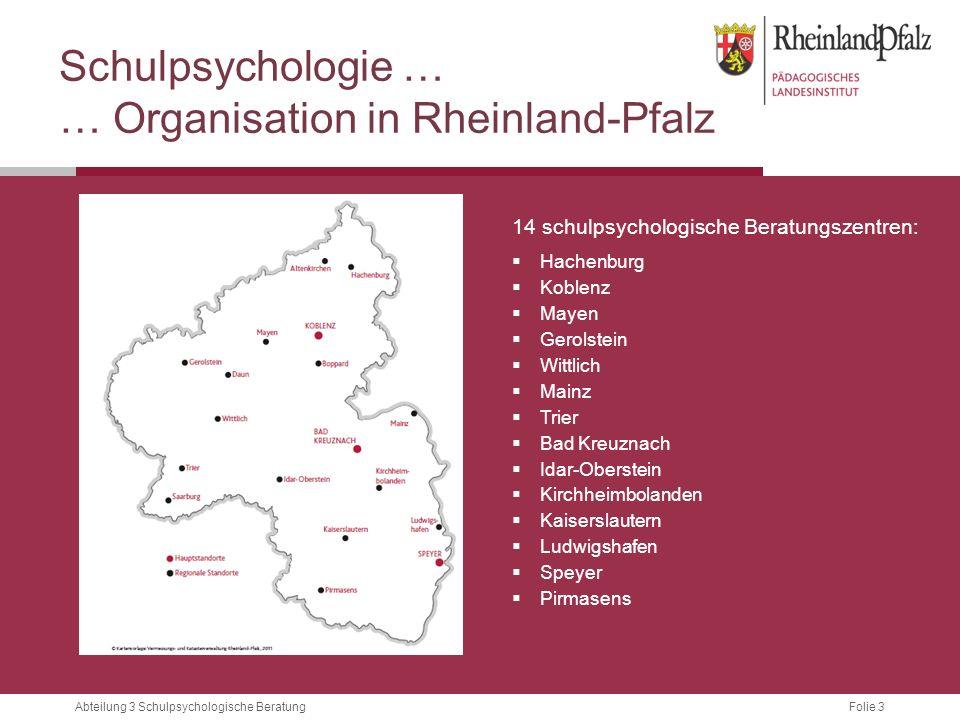 … Organisation in Rheinland-Pfalz