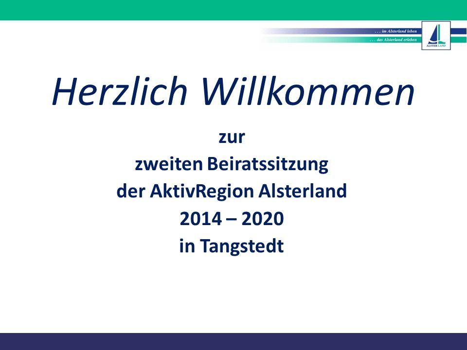 zweiten Beiratssitzung der AktivRegion Alsterland