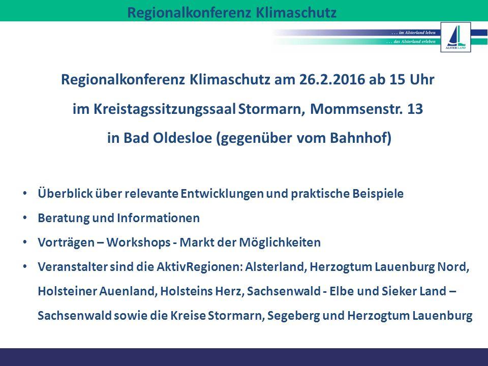 Regionalkonferenz Klimaschutz