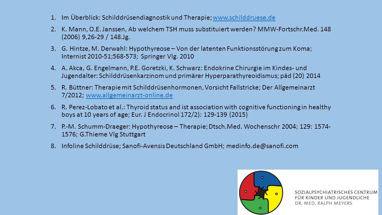 Im Überblick: Schilddrüsendiagnostik und Therapie; www.schilddruese.de