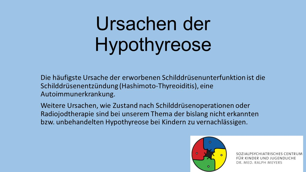 Ursachen der Hypothyreose